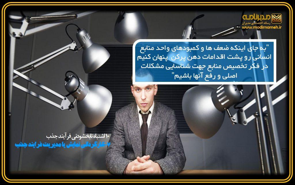 7-کارگردانی نمایش یا مدیریت فرایند جذب؟! :