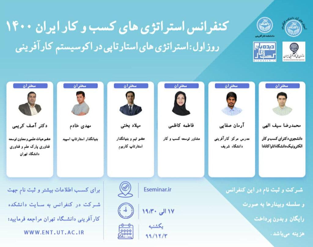 مدیرنامه -وبینار کنفرانس استراتژی های کسب و کار، ایران1400
